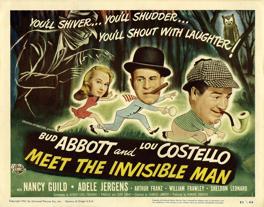 Abbott and Costello in the Horror Universe: ABBOTT AND COSTELLO MEET THE INVISIBLE MAN (2/3)