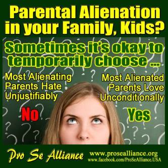 Parental Alienation in your family - 2016