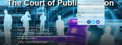 Causes - World4Justice - Lobby Forum- Justice4Children 2- 2015