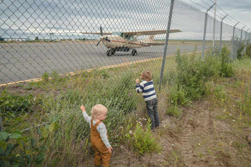 Waiting for our plane in King Salmon.