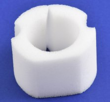 Open cell, high temp insulation, custom manufactured and die cut by American Flexible Products.