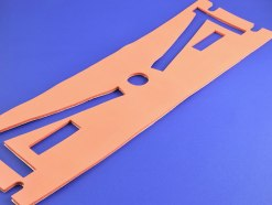 Closed cell silicone foam, custom manufactured and die cut by American Flexible Products.