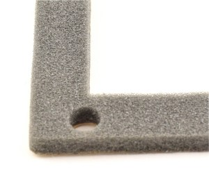 Open cell foam dust seal, custom manufactured and die cut by American Flexible Products.