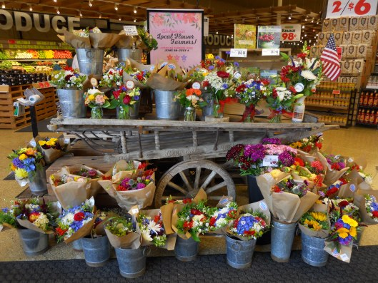 American Flowers Week on display at Seattle's Ballard Market, part of the Town & Country Markets chain.