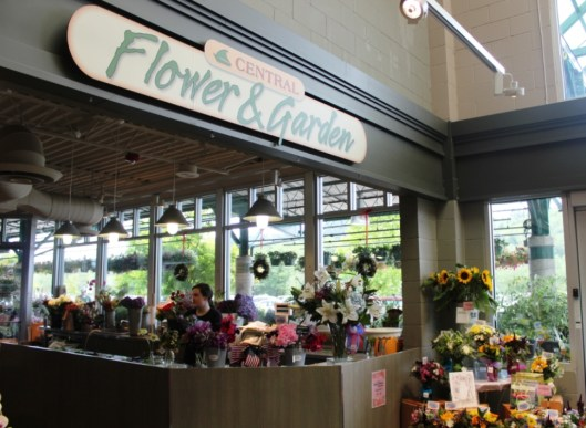 Poulsbo, Washington's Central Market has a sizeable floral department -- up front and center.