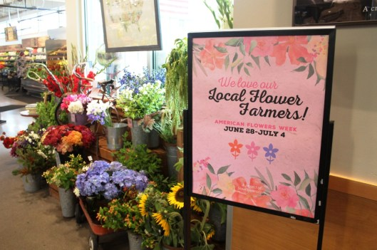Town & Country on Bainbridge Island's gorgeous local flowers display for American Flowers Week
