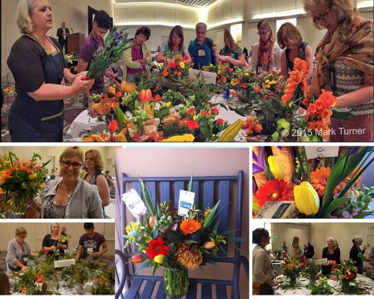 California-grown flowers paired beautifully with Syndicate's USA-made vases at the 2015 Garden Writers Association Symposium