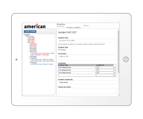 Proactive Incident Logbook For Management AmericanFLS