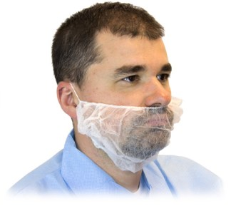 Latex-Free White Beard Guards (1000 per case)