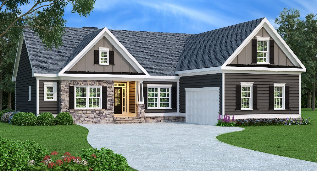 Ranch Plan: 1732 Square Feet, 3 Bedrooms, 2 Bathrooms, Lanier