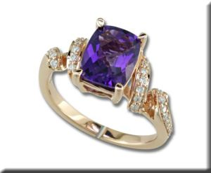 Amethyst ring from Parlé Jewelry Designs