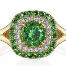 Tsavorite garnet and diamond ring by Omi Privé.
