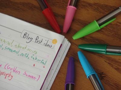 Master list of blog post ideas