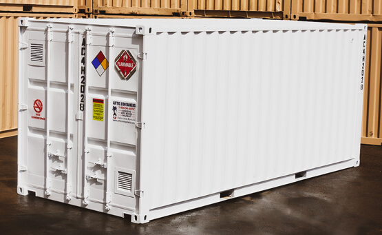 20x8_ 4 Hour Single Door Hazmat Container