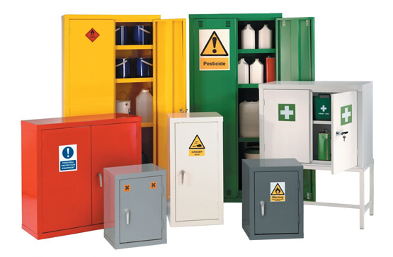 hazardous and chemical storage containers