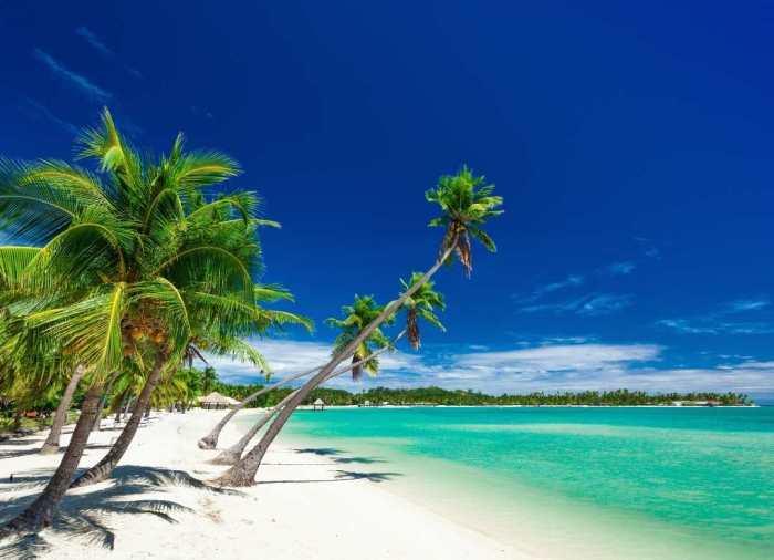 La tranquilidad de las playas de Fiji son el spot perfecto para romancear y pasarla bien