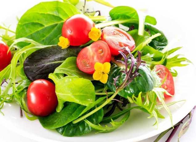 El consumo de las ensaladas disminuye el riesgo de padecer algunas enfermedades cardiovasculares y cáncer (dado su contenido de antioxidantes)