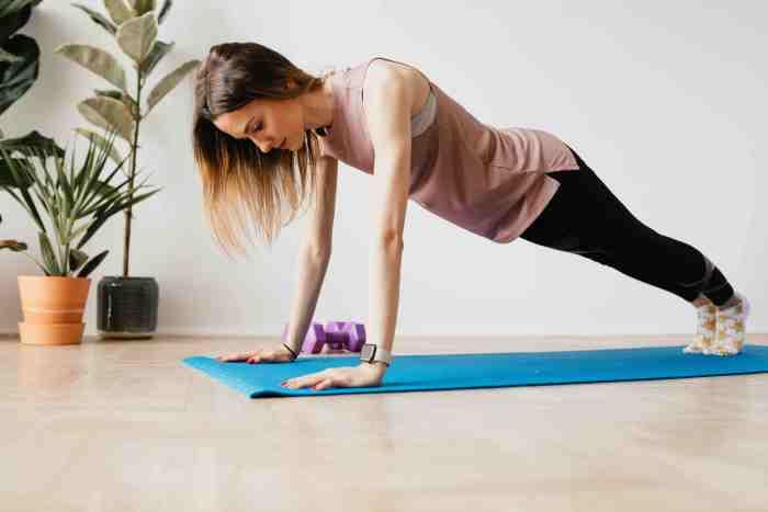 Incluye en tu entrenamiento hiit planks con alta tracción de mancuernas