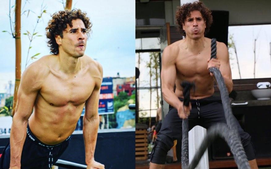 El intenso entrenamiento de Guillermo Ochoa para mantenerse en forma