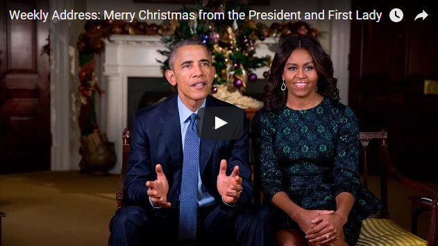Barack Obama and First Lady Michelle Obama's Christmas Address