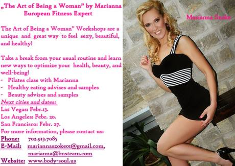 The art of being a woman new flyer with dates