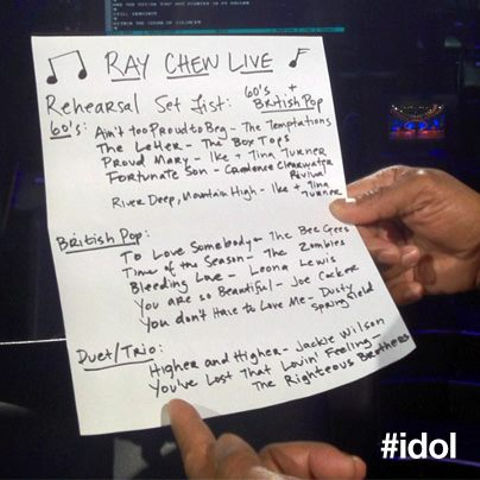 American Idol 2012 top 5 song list