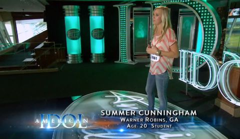 Summer Cunningham audition on American Idol
