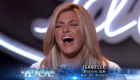 Isabelle Pasqualone on American Idol