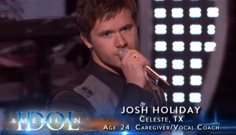 Josh Holiday on American Idol 2013