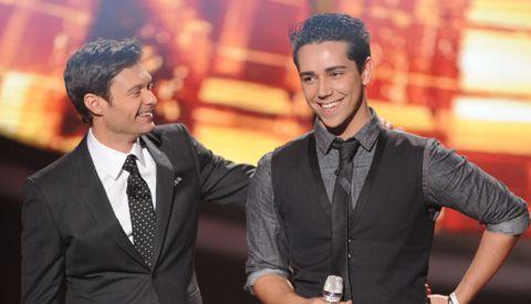 Lazaro Arbos & Ryan Seacrest on American Idol
