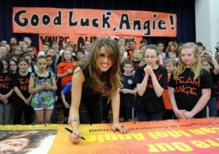 Angie Miller hometown visit