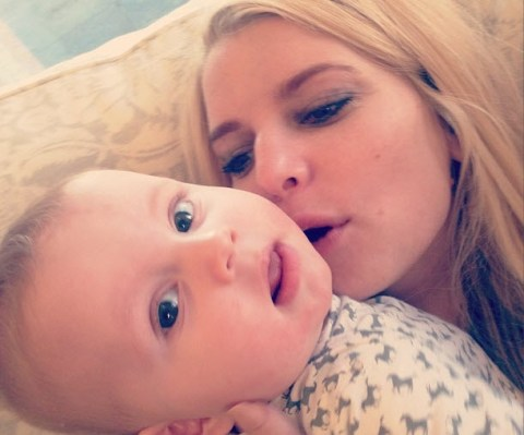 Jessica Simpson and baby Ace
