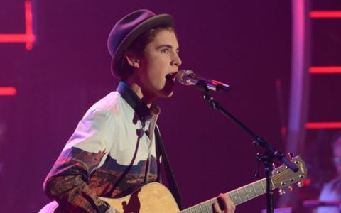 Sam Woolf performs on American Idol 2014