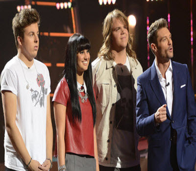 American Idol 2014 Top 3 and Ryan Seacrest