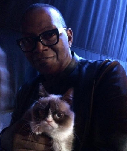 American Idol Grumpy Cat and Randy Jackson