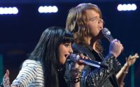 Jena Irene and Caleb Johnson perform on American Idol 2014 finale