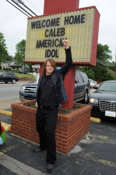 Hometown support for Caleb Johnson