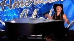 A Hopeful reacts in her American Idol audition