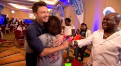 Host Ryan Seacrest celebrates on American Idol 2015