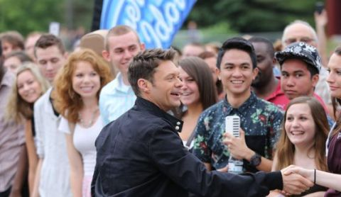 Ryan Seacrest greets American Idol 2015 Hopefuls