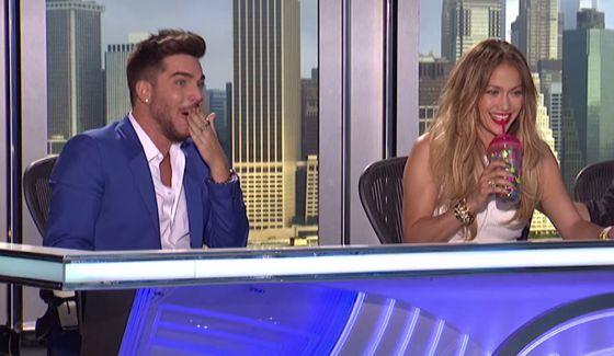 Adam Lambert as a judge on American Idol 2015 auditions