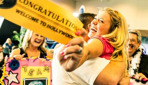 Golden Ticket winner at American Idol auditions