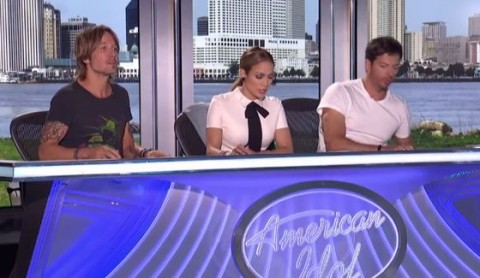American Idol judges at New Orleans auditions