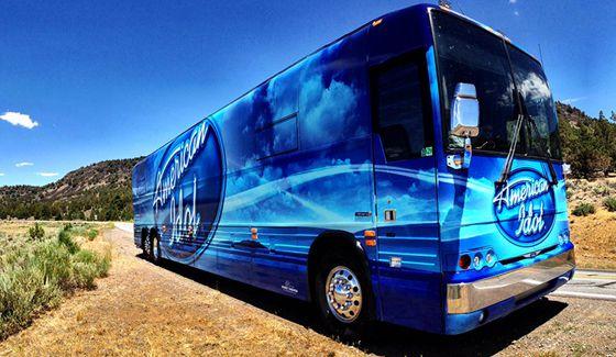 American Idol Bus hits the road
