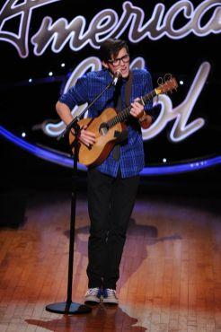 Trevor Douglas performs in Hollywood Week