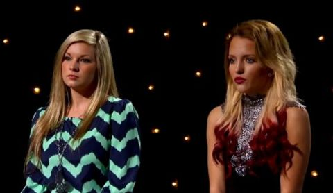 Rachel Hallack and Maddie Walker sing-off