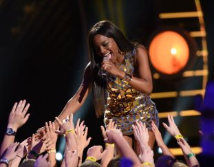 Adanna Duru performs on AMERICAN IDOL