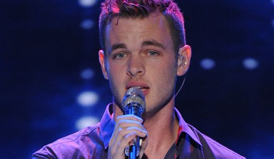 Clark Beckham performs as American Idol 2015 finalist