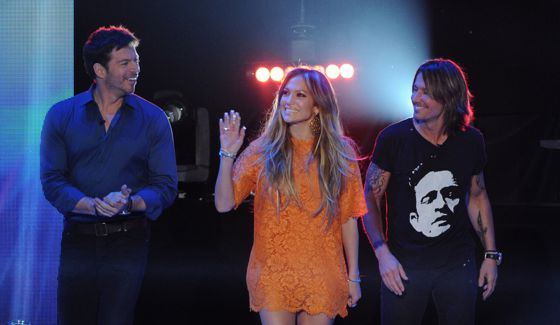 American Idol 2015 Judges arrive for the show