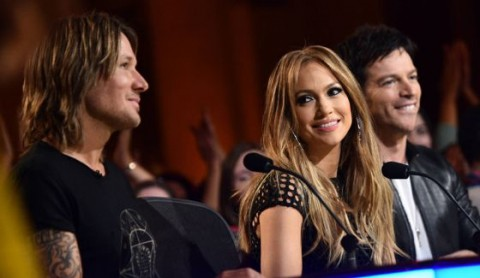 Keith Urban, Jennifer Lopez, and Harry Connick Jr. on American Idol